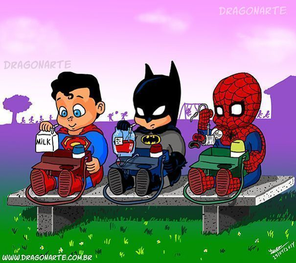 What 14 Famous Superheroes Would Look And Act Like As Little Kids