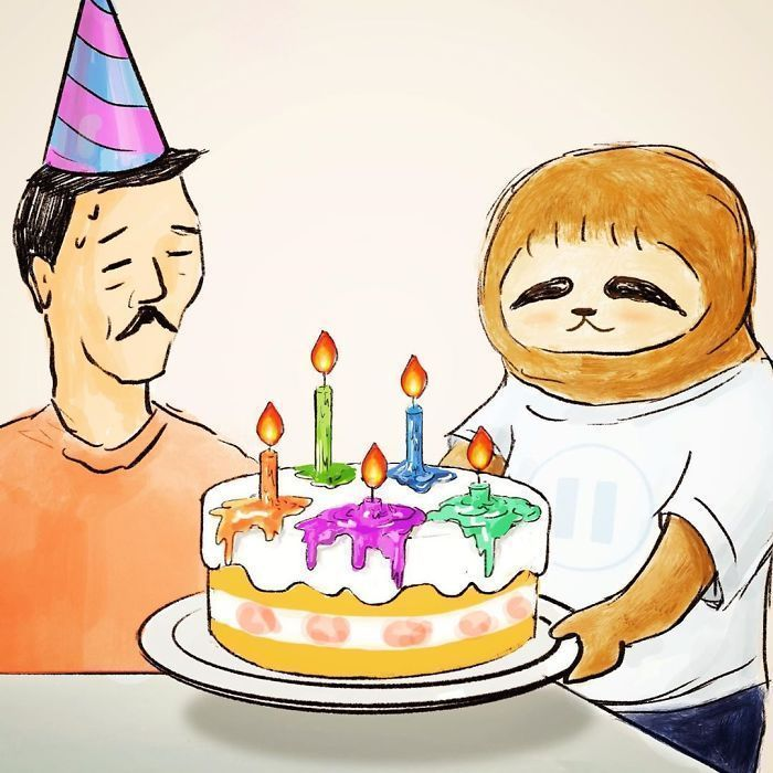 36 Problems Of A Sloth Hilariously Illustrated By Japanese Artist Keigo