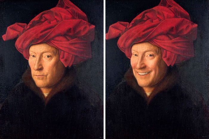 Here's How These 46 Famous Portraits Would Look With A Smile