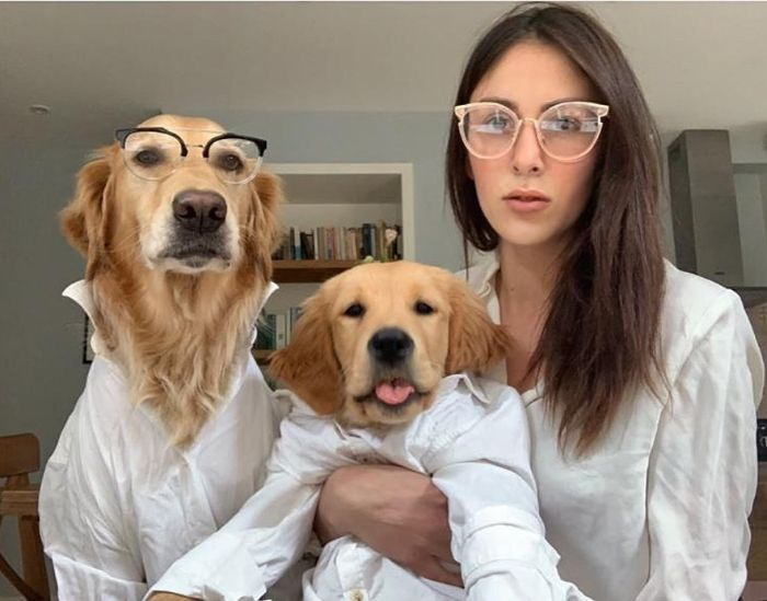 Woman Does Hilarious Photoshoots With Her 2 Dogs To Capture Their Adorable Relationship (116 Pics)