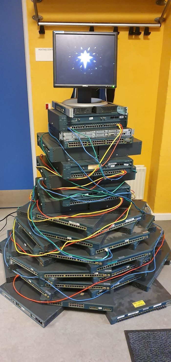59 Times Creative Employees Built Work-Themed Christmas Trees