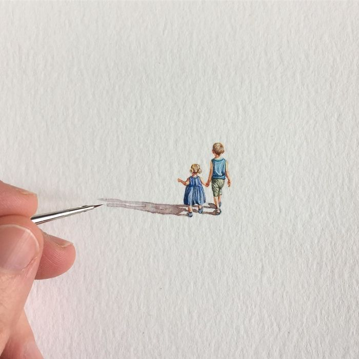 96 Miniature Paintings Of Everyday Things By Brooke Rothshank