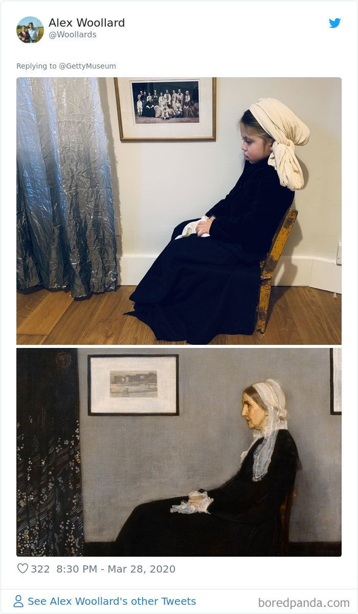Museums Ask People To Recreate Famous Paintings With Anything They Can Find At Home, Get 104 Hilarious Pics