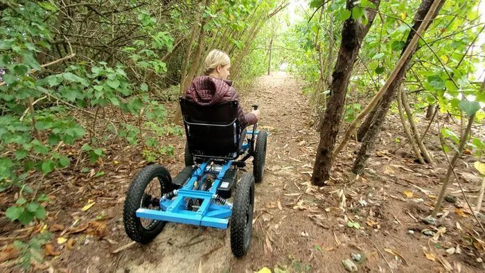 "Man Designs An Off-Road ""Wheelchair"" So That His Wife Can Go Places She Never Imagined, It's Now Up For Mass-Production"
