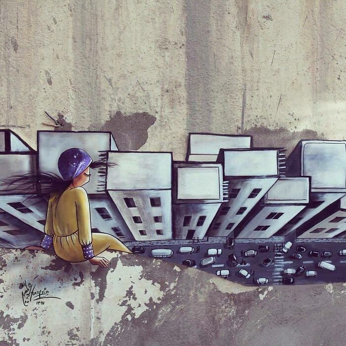 40 Heartbreaking Works By The First Female Afghan Street Artist