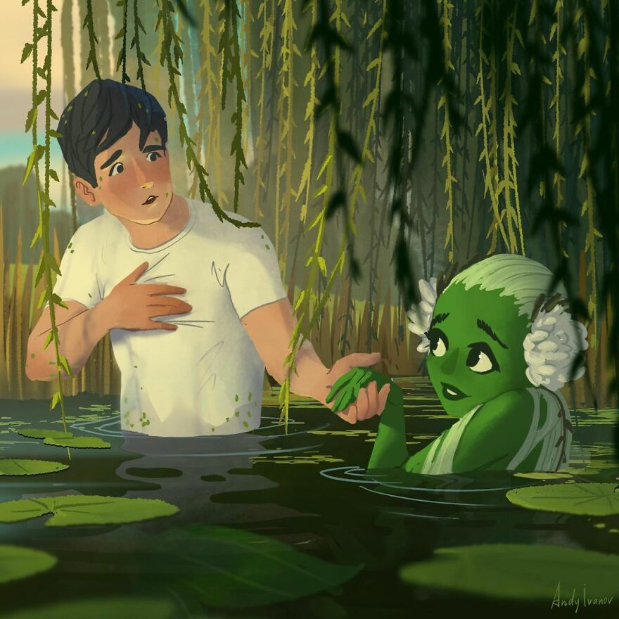Artist Finishes The Story About The Green Mermaid And It Hits People In The Feels