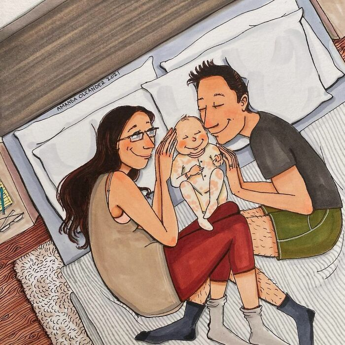 Artist Created Wholesome But Honest Illustrations About Pregnancy And Giving Birth