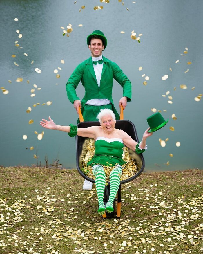 95-Year-Old Grandma And Her Grandson Prove Fun Doesn't Have An Age Limit With Hilarious Costumes (22 New Pics)