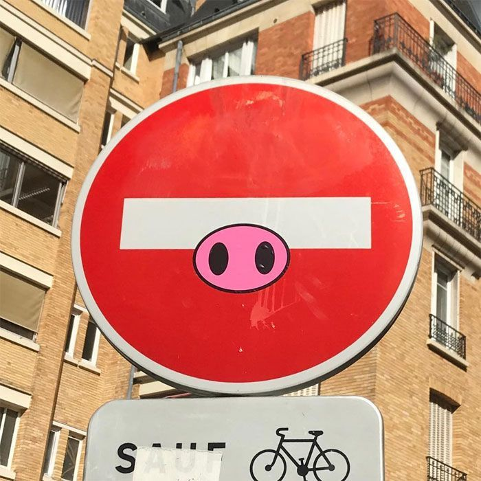 54 Road Signs Brilliantly Altered By Street Artist Clet Abraham