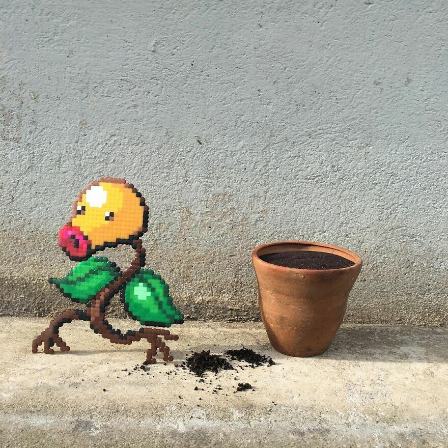 Artist 'Vandalizes' The Streets With His Fun And Unique Pixel Art (30 Pics)